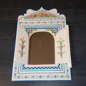 handpainted moroccan wall mirror